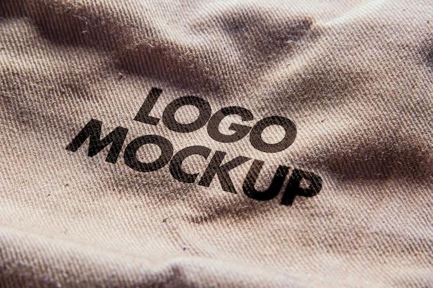 Cena de maquete de logotipo
