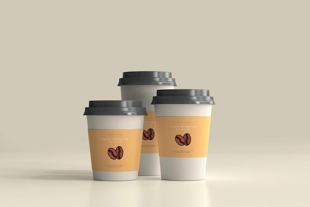 Cena de maquete do copo de café de papel