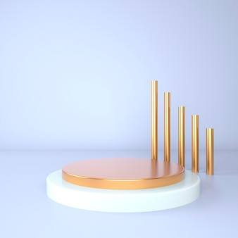 Cena mínima com renderização geométrica de pódio