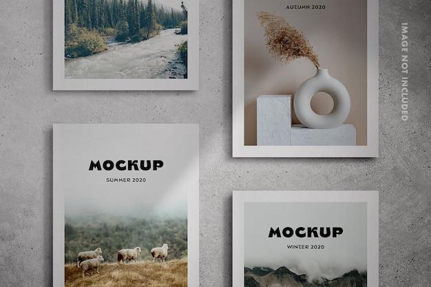 Cenas de maquete de capa de revista