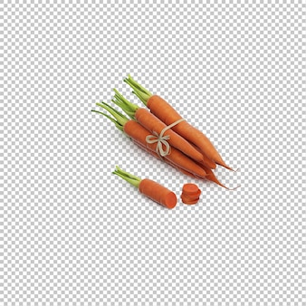 Cenouras isométricas