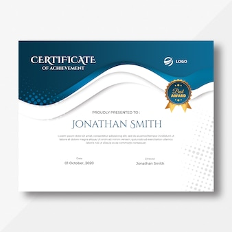 Certificado blue waves