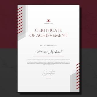 Certificado simples de modelo de conquista