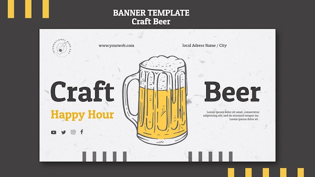 Cerveja com modelo de banner de espuma