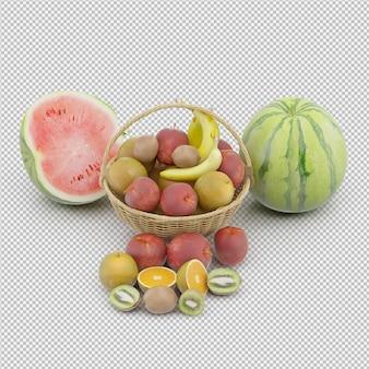 Cesta com frutas