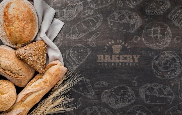 Cesta com pão fresco