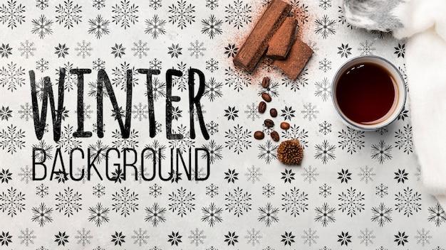 Chá aromatizado com canela para o inverno