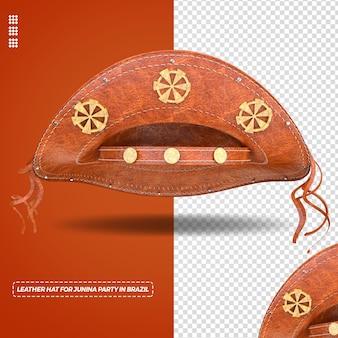 Chapéu de couro nordestino para festa junina