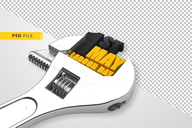 Chave 1 de maio dia do trabalho internacional 3d renderização Psd Premium