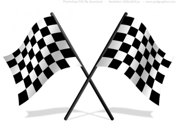 Checkered bandeiras psd ícone