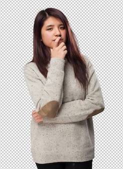 Chinês legal mulher em pé