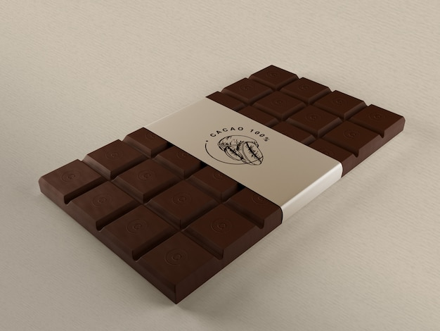 Chocolate embrulho de papel mock-up