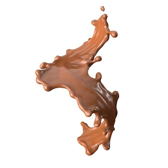 Chocolate milk splash 3d realista