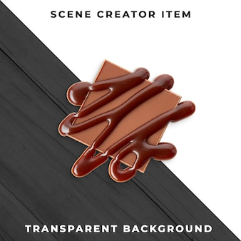 Chocolate transparente psd
