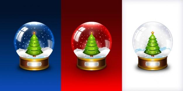 Christmas snow globe icon