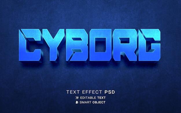 Ciborgue de efeito de texto