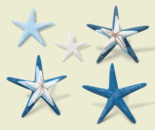 Cinco estrelas do mar