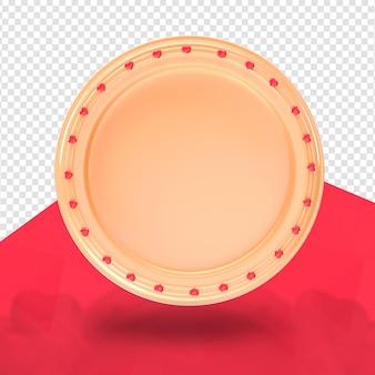 Círculo com coração renderização 3d