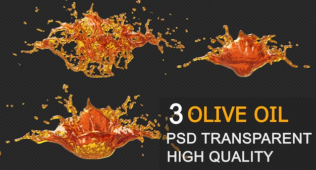 Círculo de respingo de óleo de tinta moldura redonda em design isolado de renderização 3d