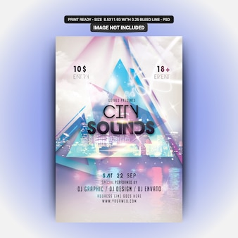 City sounds flyer