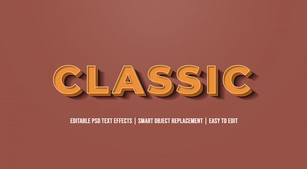 Clássico - efeitos de texto antigos do vintage
