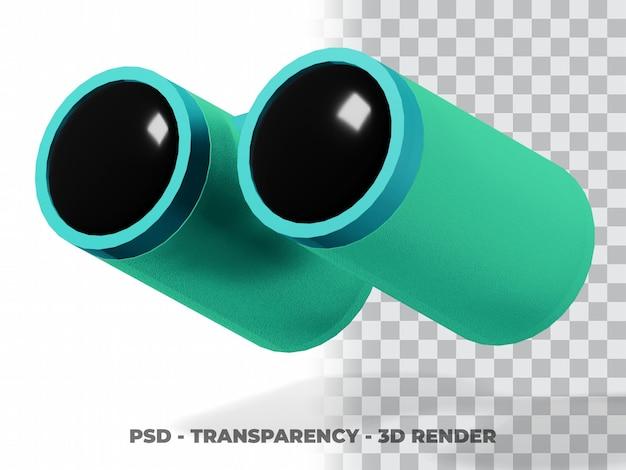 Clipart binocular 3d com fundo transparente