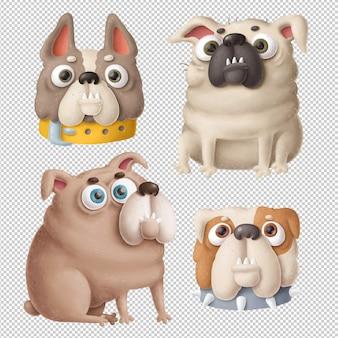 Clipart de cães dos desenhos animados