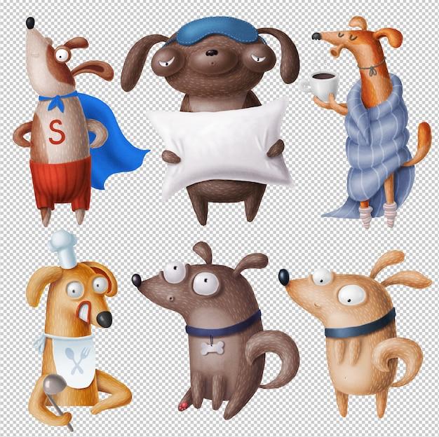 Clipart de cães engraçados