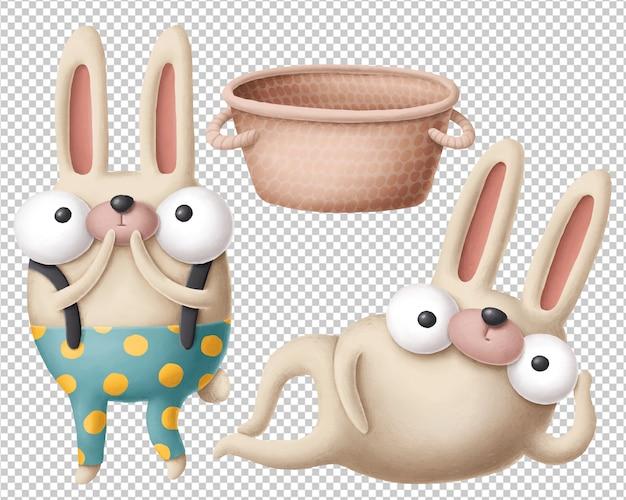 Clipart de coelhos dos desenhos animados