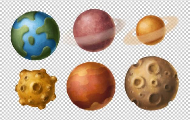 Clipart de planetas dos desenhos animados