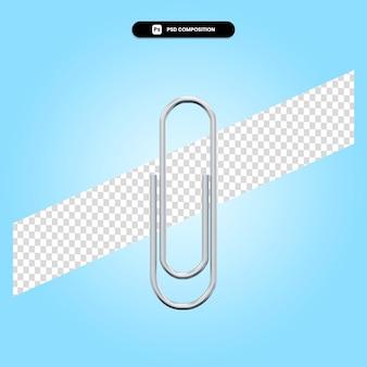 Clipe de papel ilustração 3d render isolada