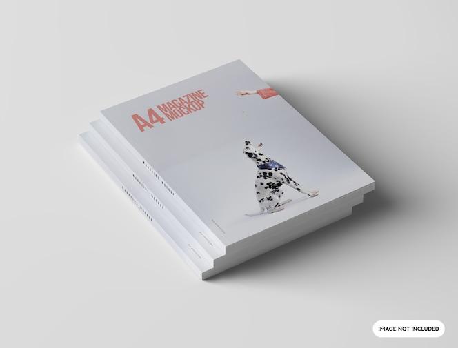 Close na maquete da revista