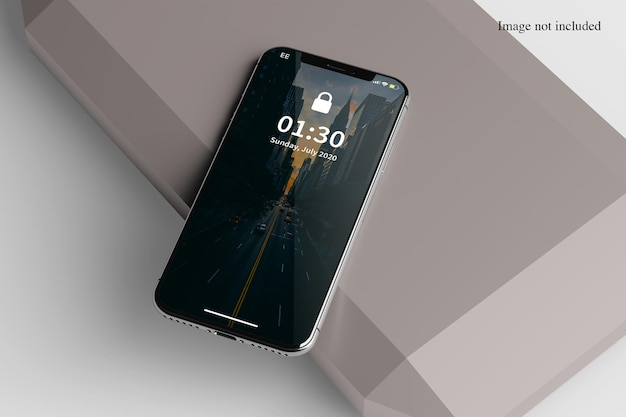 Close na maquete do smartphone