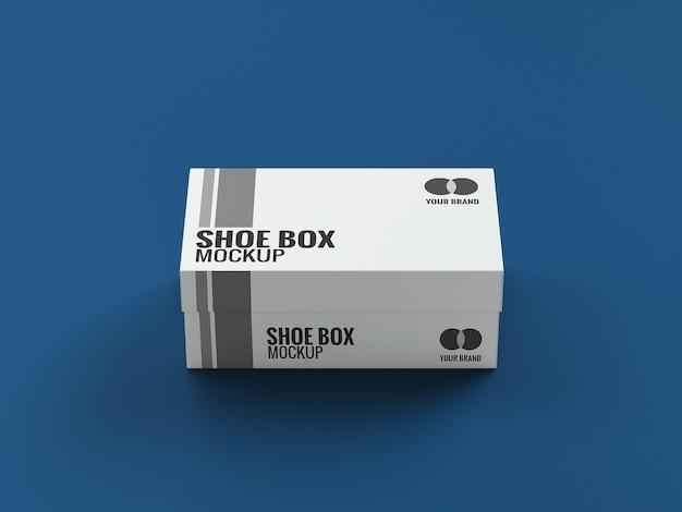 Close no design da maquete da caixa de sapatos