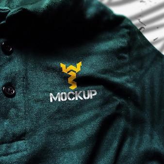 Close up da maquete da camiseta