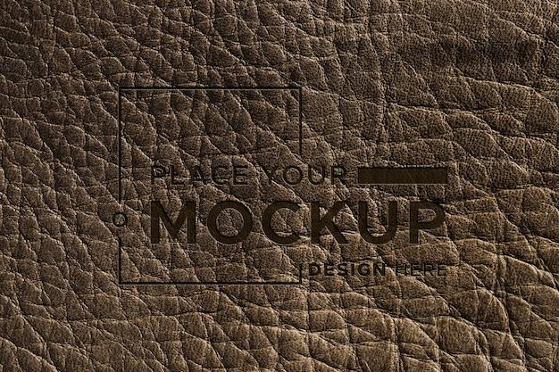 Close-up da superfície de couro marrom