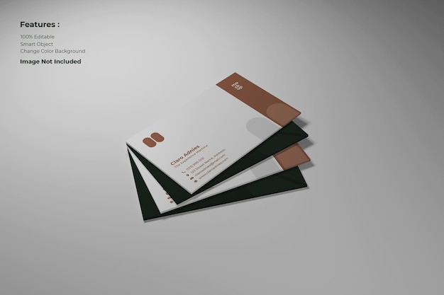 Close-up de cartão de visita premium psd