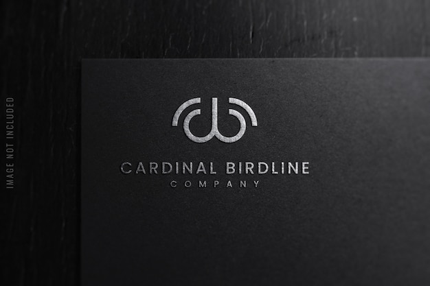 Close-up de maquete de logotipo de luxo