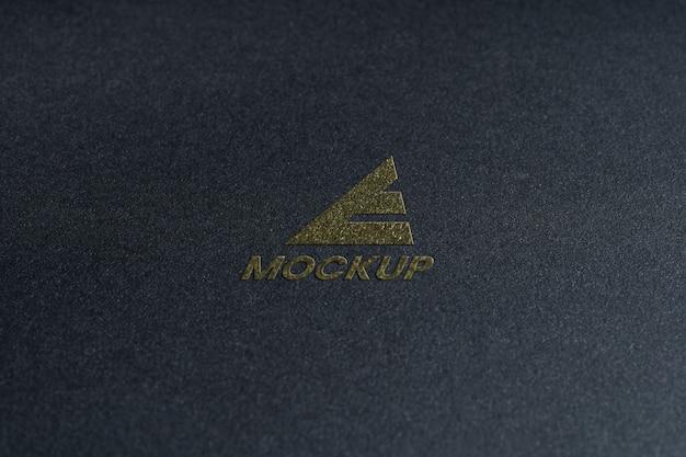 Close-up de negócios de design de logotipo de mock-up