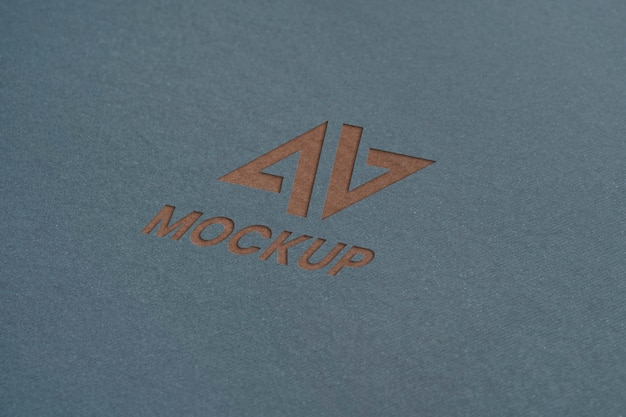 Close-up de negócios de design de logotipo de mock-up