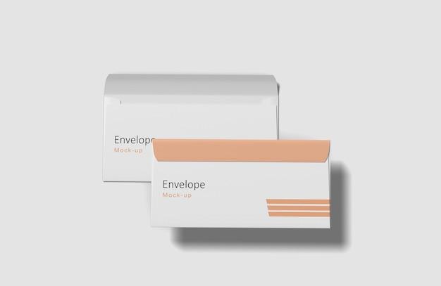 Close-up em envelope mockup isolado