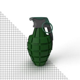 Close-up em granada isolada