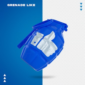Close-up em grenade like em 3d rendering