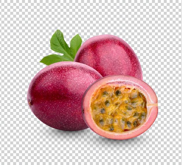 Close-up em maracujá maduro isolado