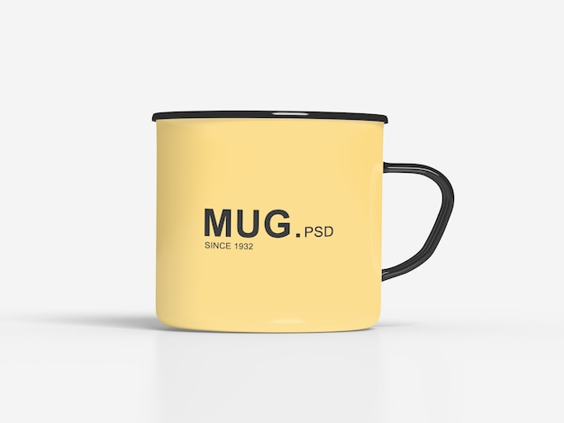 Close-up em mug mockups isolated