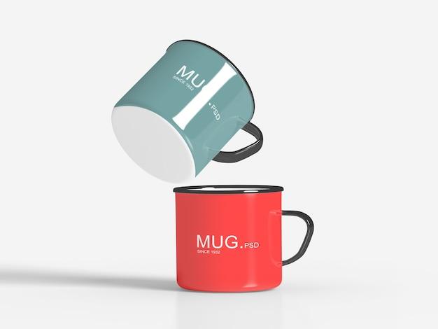 Close-up em mug mockups isolated