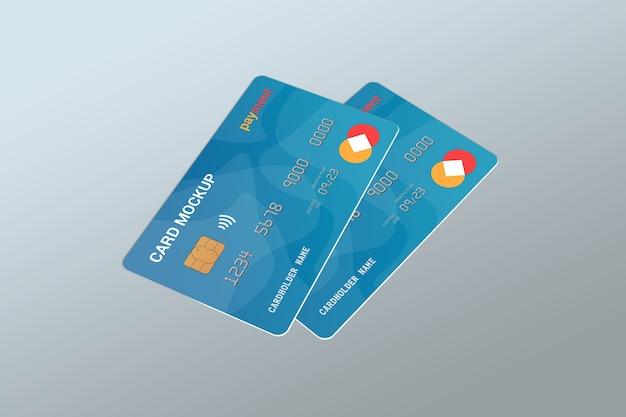 Close-up em smart card mockup design isolated