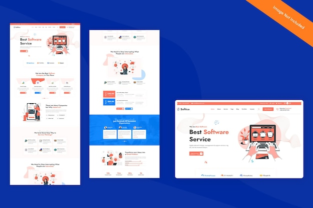 Close-up em software template isolated