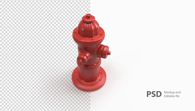 Close-up em um extintor de renderização isolado