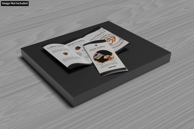 Close-up in various purpose trifold brochure